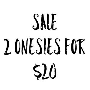 Sale: Two Onesies From Shop For only $20